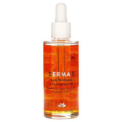 Купить Derma E Масло против морщин с витаминами А и Е, 60 мл (2 жидких унции)