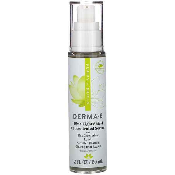 Derma E, Blue Light Shield Concentrated Serum, 2 fl oz (60 ml)