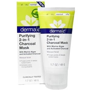 Derma E, Очищающая маска с активированным углем 2 в 1, 1,7 унции (48 г) инструкция, применение, состав, противопоказания