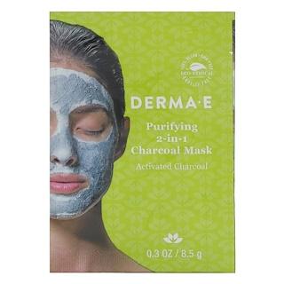 Derma E, Очищающая угольная маска 2 в 1, 0,3 унц. (8,5 г)