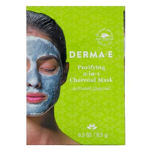 Дерма Е, Purifying 2-in-1 Charcoal Mask, 0.3 oz (8.5 g) отзывы