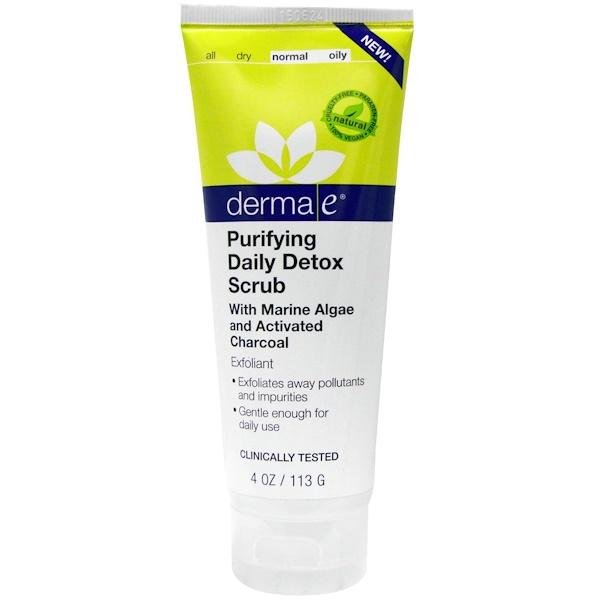Derma E, Purifying Daily Detox Scrub, 4 oz (113 g)
