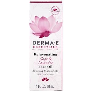 Дерма Е, Rejuvenating Face Oil, Sage & Lavender , 1 fl oz (30 ml) отзывы