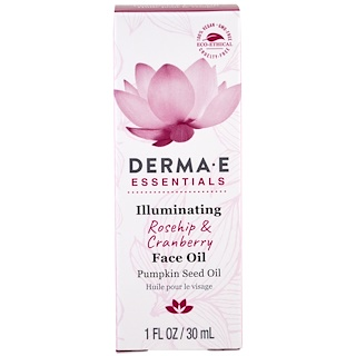 Derma E, Illuminating face Oil, Rosehip & Cranberry , 1 fl oz (30 ml)