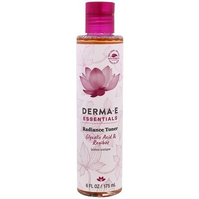 Купить Derma E Essentials, тоник для сияния, гликолевая кислота и ройбуш, 6 жидк. унц. (175 мл)