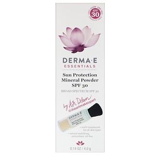 Derma E, Essentiels, poudre minérale de protection solaire, SPF 30, 0.14 oz (4.0 g)