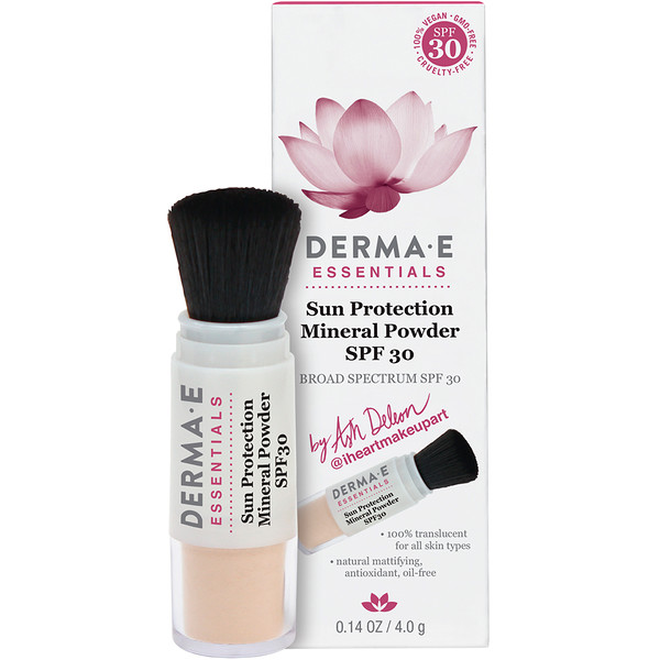 Derma E, Essentials, Sun Protection Mineral Powder, SPF 30, 0.14 oz (4.0 g)
