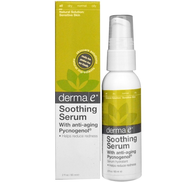 Derma E, Soothing Redness Reducing Serum, 2 fl oz (60 ml) (Discontinued Item)