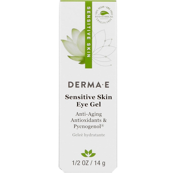 Derma E, Sensitive Skin Eye Gel, 1/2 oz (14 g) (Discontinued Item)