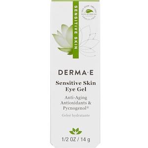Дерма Е, Sensitive Skin Eye Gel, 1/2 oz (14 g) отзывы покупателей