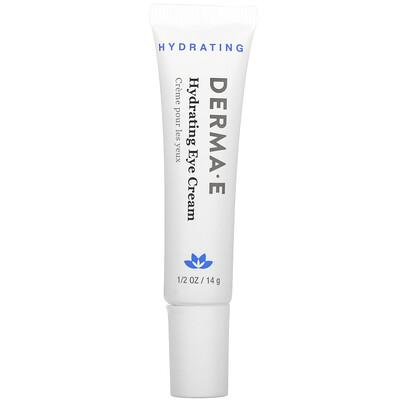 Купить Derma E Hydrating Eye Cream with Hyaluronic Acid & Green Tea, 1/2 oz (14 g)