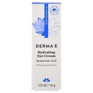 Derma E, Hydrating Eye Cream with Hyaluronic Acid, 1/2 oz (14 g)