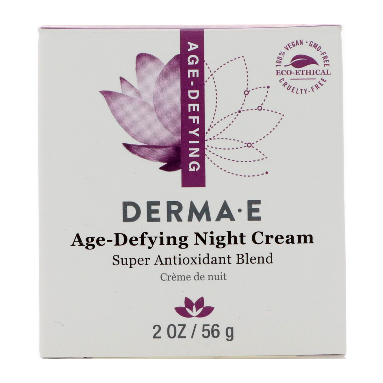 Age-Defying Day Creme With Astaxanthin and Pycogenol - 2 oz. by DERMA-E (pack of 2) Soothing Touch - Vegan Lip Balm Vanilla Rose - 0.25 oz. (pack of 4)