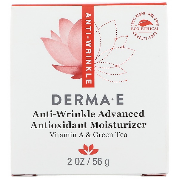 Derma E, Anti-Wrinkle Advanced Antioxidant Moisturizer, 2 oz (56 g) (Discontinued Item)