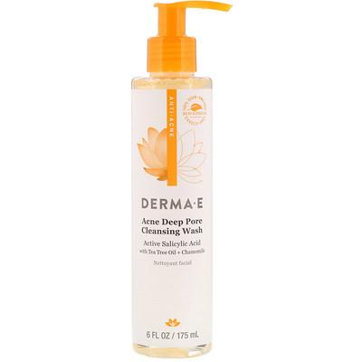 Купить Derma E средство для умывания против угрей для глубокого очищения пор, 175мл (6жидк.унций)