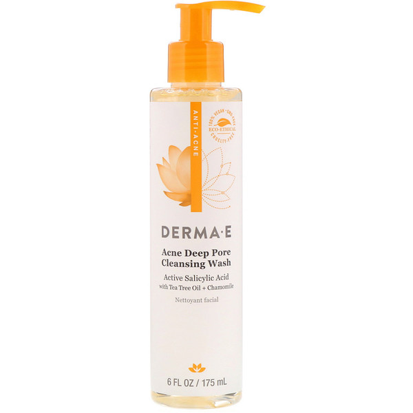 Derma E, Acne Deep Pore Cleansing Wash, 6 fl oz (175 ml)