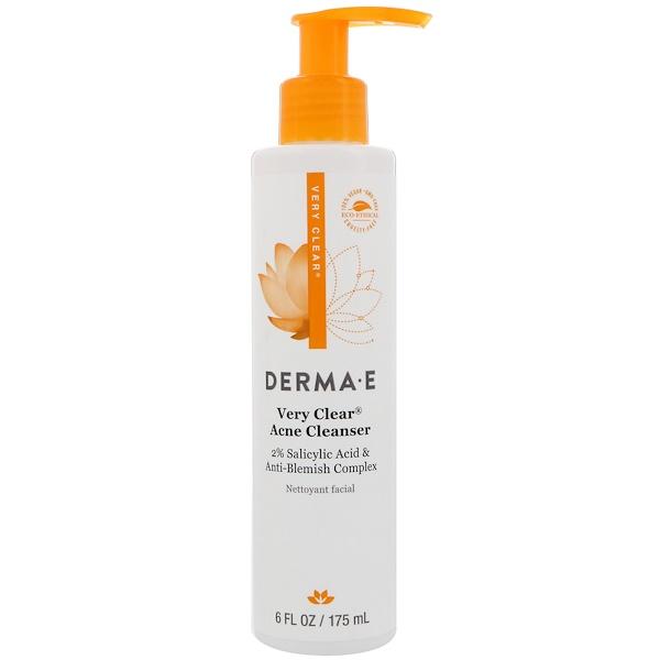 Derma E, Very Clear Acne Cleanser, 6 fl oz (175 ml)