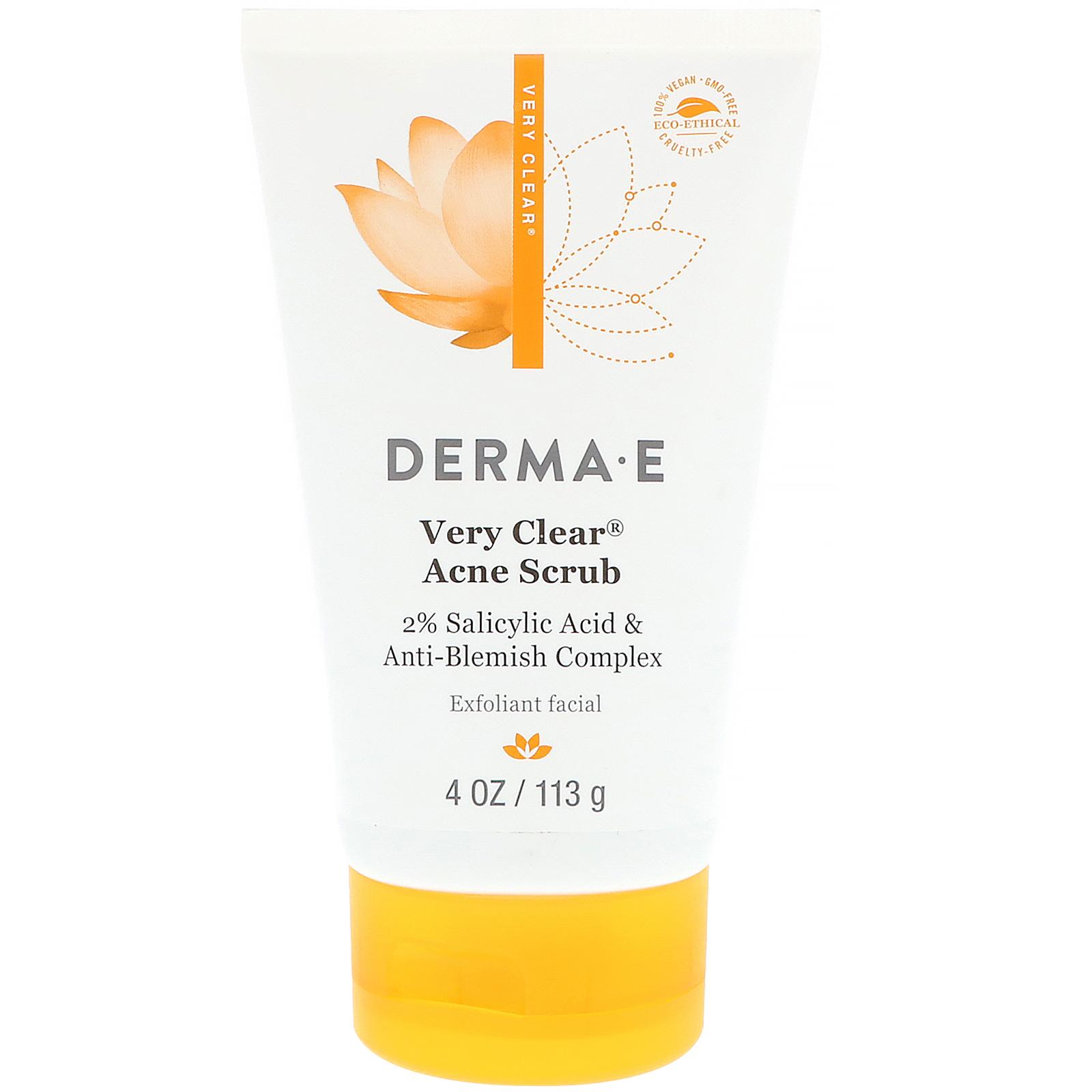 Very Clear Acne Facial Cleanser - 6 fl. oz. by DERMA-E (pack of 4) Clinicians Complex - AHA Facial Cream - 60ml/2oz