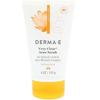 Derma E, ベリークリアアクネスクラブ、2%サリチル酸・アンチブレミッシュコンプレックス、 4 oz (113 g)