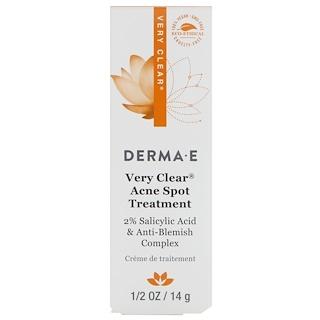 Derma E, ベリークリアアクネスポットトリートメント、1/2オンス (14 g)