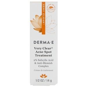 Дерма Е, Very Clear Acne Spot Treatment, 1/2 oz (14 g) отзывы покупателей