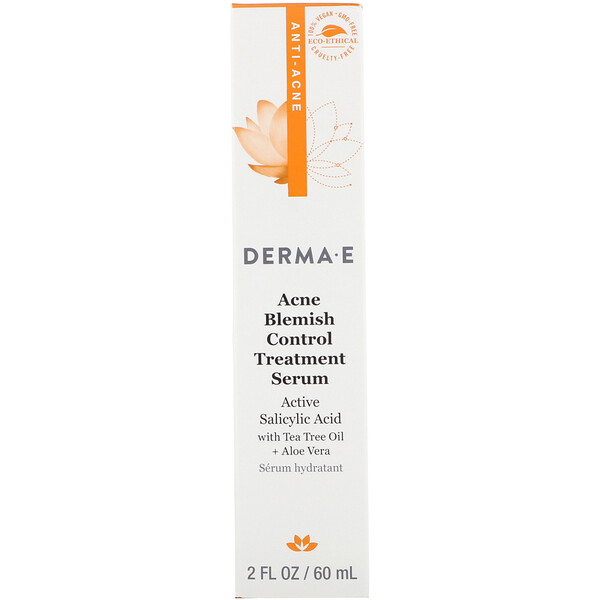 Derma E, Acne Blemish Control Treatment Serum, 2 fl oz (60 ml)