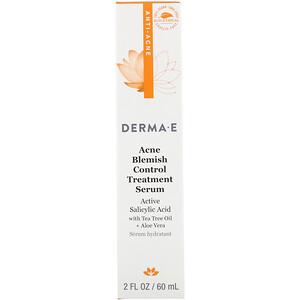 Дерма Е, Acne Blemish Control Treatment Serum, 2 fl oz (60 ml) отзывы покупателей