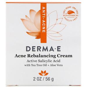 Derma E, Увлажняющий крем Very Clear Moisturizing Cream, комплекс против дефектов кожи, 56 г (2 унции) инструкция, применение, состав, противопоказания