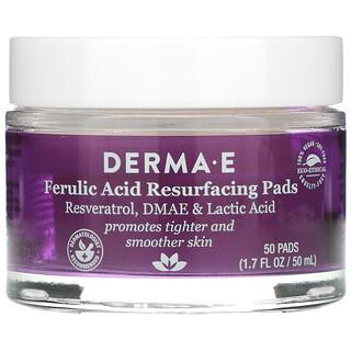 Derma E, Ferulic Acid Resurfacing Pads, 50 Pads, 1.7 fl oz (50 ml)
