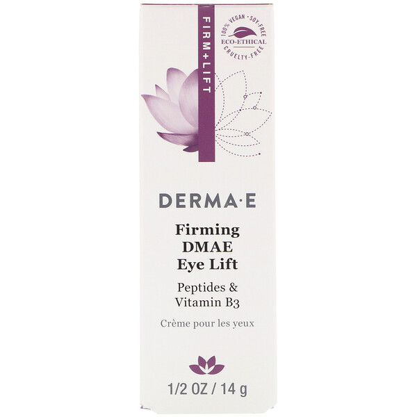 Derma E, Firming DMAE Eye Lift with Liftessence Peptides and Goji, 1/2 oz