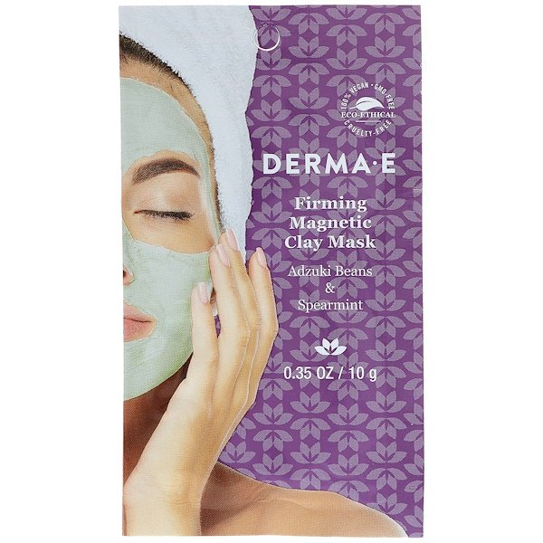 Derma E, Firming Magnetic Clay Mask, Adzuki Beans & Spearmint, 0.35 oz ( 10 g) (Discontinued Item)