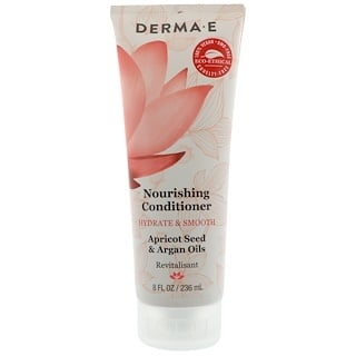 Derma E, Nourishing Conditioner, Hydrate & Smooth, Apricot & Argan Oils, 8 fl oz (236 ml)