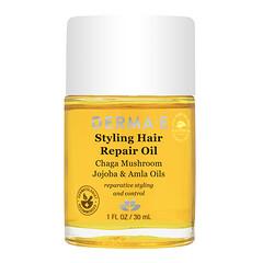 Derma E, 定型頭髮修復油,1 液量盎司(30 毫升)