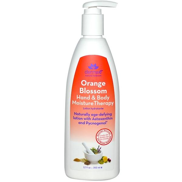 Derma E, Hand & Body Moisture Therapy, Orange Blossom, 12 fl oz (350 ml) (Discontinued Item)