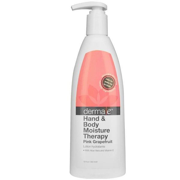 Derma E, Hand & Body Moisture Therapy, Pink Grapefruit, 12 fl oz (350 ml) (Discontinued Item)