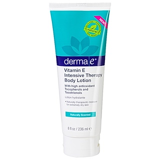 Derma E, Vitamin E Intensive Therapy Body Lotion, Naturally Scented, 8 fl oz (236 ml)