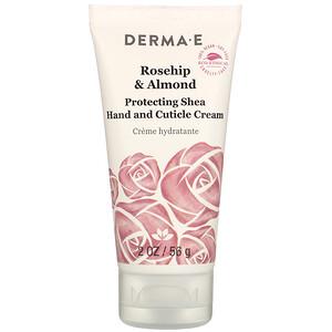 Дерма Е, Protective Shea Hand and Cuticle Cream, Rosehip & Almond, 2 oz (56 g) отзывы покупателей