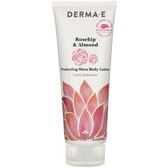 Derma E, 保護乳木果沐浴露,玫瑰果杏仁,8 盎司(227 克)