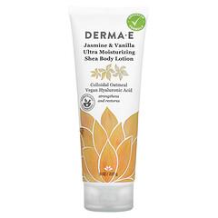 Derma E, 超保溼乳木果身體乳,茉莉和香草香,8 盎司(227 克)