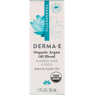 Derma E, Organic Argan Oil Blend, 1 fl oz (30 ml)