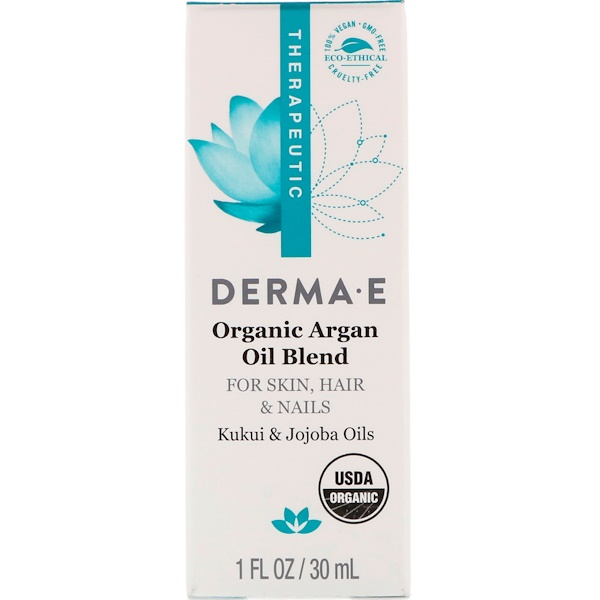 Derma E, Organic Argan Oil Blend, 1 fl oz (30 ml) (Discontinued Item)