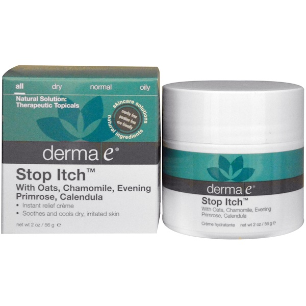 Derma E, Stop Itch, 2 oz (56 g) (Discontinued Item)