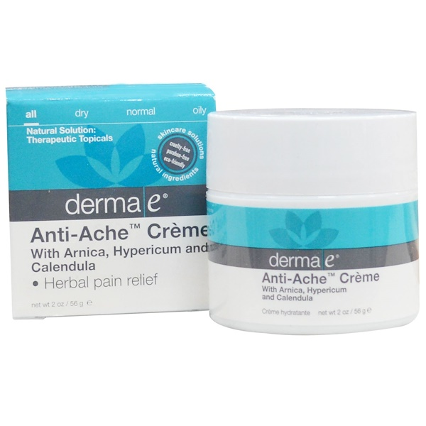 Derma E, Anti-Ache Creme, 2 oz (56 g) (Discontinued Item)
