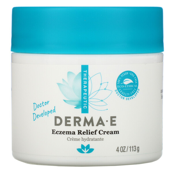 Derma E, Eczema Relief Cream, 4 oz (113 g)