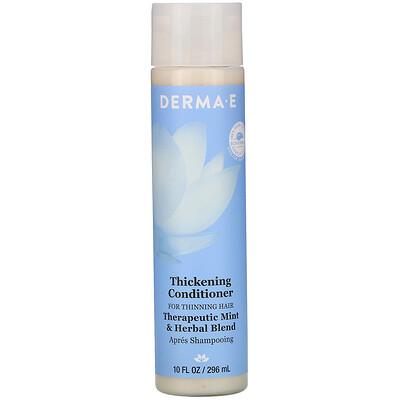 Купить Derma E Thickening Conditioner, Therapeutic Mint & Herbal Blend, 10 fl oz (296 ml)