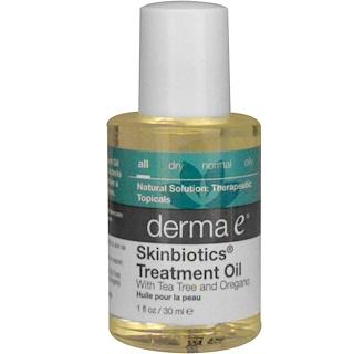 Derma E, Skinbiotics Treatment Oil, with Tea Tree and Oregano, 1 fl oz (30 ml)