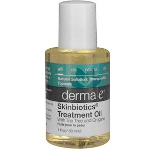 Дерма Е, Skinbiotics Treatment Oil, with Tea Tree and Oregano, 1 fl oz (30 ml) отзывы покупателей