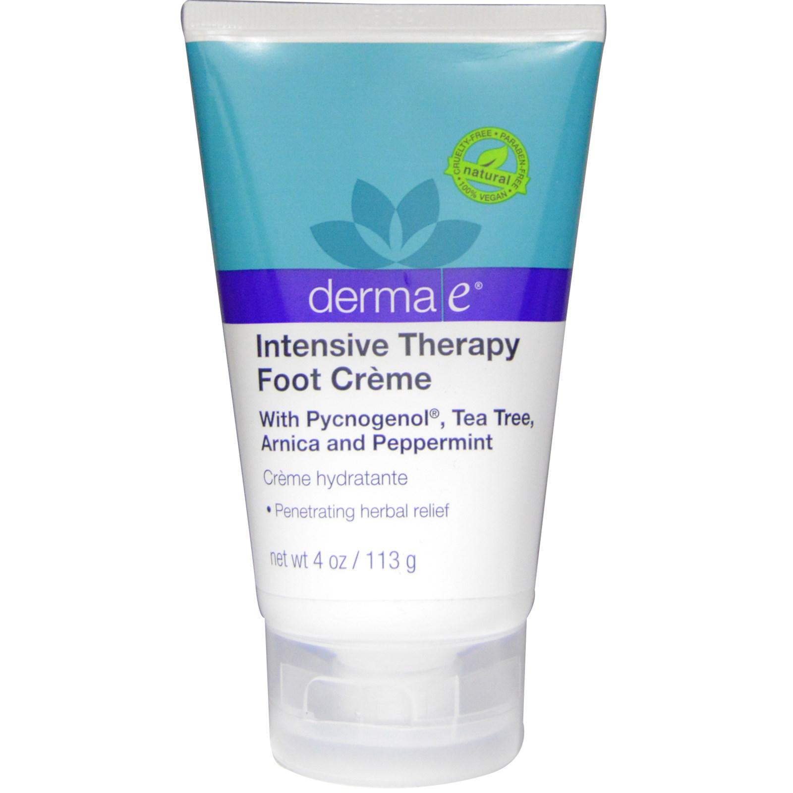 """Derma E, Крем для ног """"Интенсивная терапия"""", 4 унции (113 г)"""