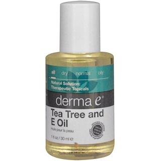 Derma E, Масло чайного дерева и витамин Е, 1 жидкая унция (30 мл)