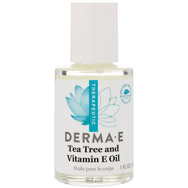 Derma E, Tea Tree and Vitamin E Oil, 1 fl oz (30 ml)